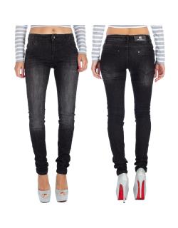 Cipo & Baxx Damen Jeans 19CB08 Schwarz W27/L32