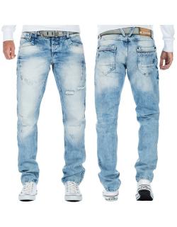 Cipo & Baxx Herren Jeans CDD104BANS Hellblau W33/L32