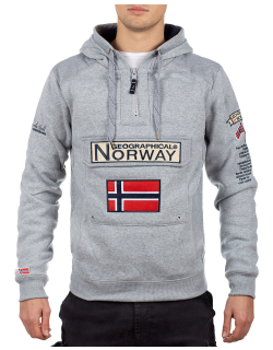 Geographical Norway Herren Pullover Gymclass Blended grey M