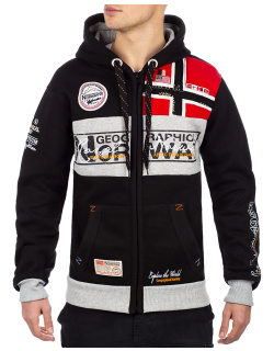 Geographical Norway Herren Sweatjacke Flyer Men Black XXL