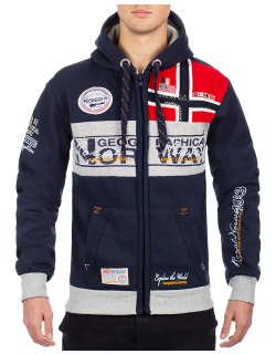Geographical Norway Herren Sweatjacke Flyer Men Navy L