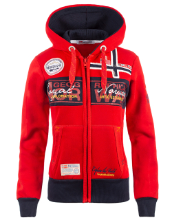 Geographical Norway Damen Sweatjacke Flyer Lady Red S