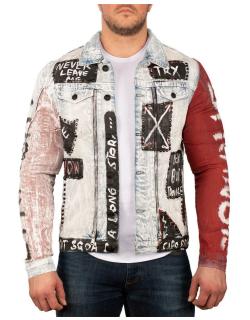 Cipo & Baxx Herren Jeans Jacke CJ241 Blau L