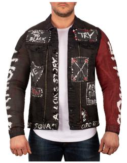 Cipo & Baxx Herren Jeans Jacke CJ248 Schwarz XL
