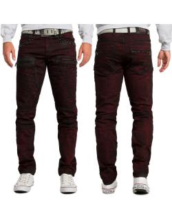 Cipo & Baxx Herren Jeans CD581 Bordeaux W32/L32