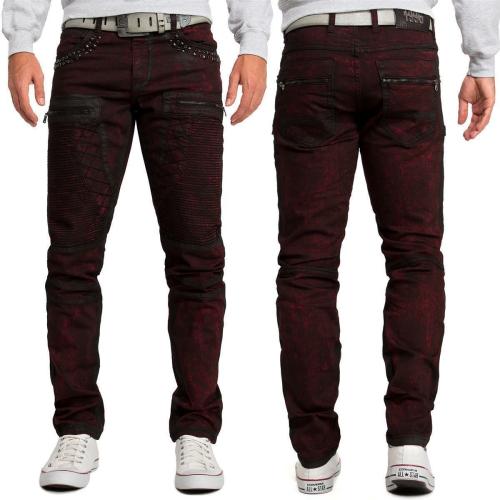 Cipo & Baxx Herren Jeans CD581 Bordeaux W36/L34