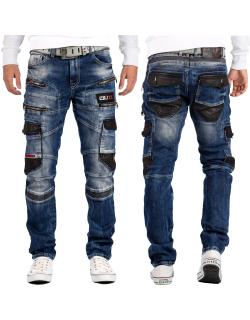 Cipo & Baxx Herren Jeans CD586 Blau W32/L34