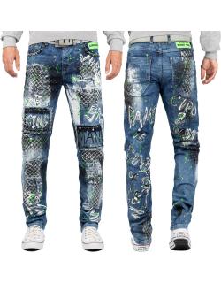 Cipo & Baxx Herren Jeans CD591 Blau W32/L34