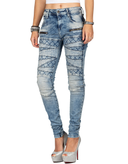 Cipo & Baxx Damen Jeans WD381