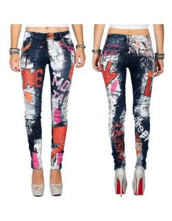 Cipo & Baxx Damen Jeans WD399 Blau W26/L32