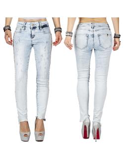 Cipo & Baxx Damen Jeans WD408 Hellblau W30/L32