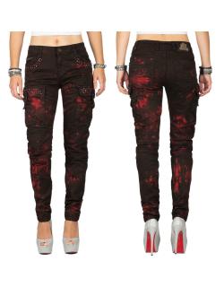 Cipo & Baxx Damen Jeans WD385 Bordeaux W30/L34