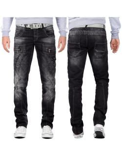 Cipo & Baxx Herren Jeans CD296 Schwarz W40/L32