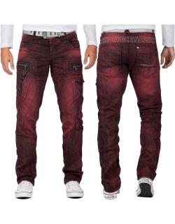 Cipo & Baxx Herren Jeans CD296 Bordeaux W33/L34