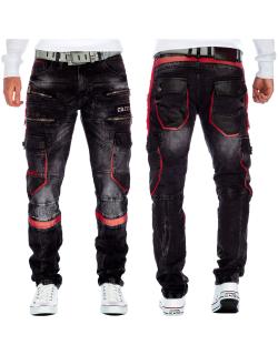 Cipo & Baxx Herren Jeans CD561 Schwarz W40/L32