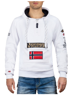 Geographical Norway Herren Pullover Gymclass White L