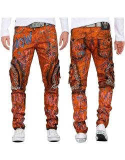 Cipo & Baxx Herren Jeans CD634 Orange W38/L32