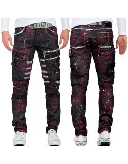 Cipo & Baxx Herren Jeans CD636 Bordeaux W36/L32